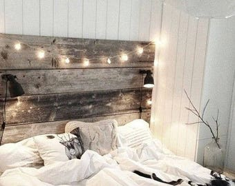 Barn Wood Bed Head Board Reclaimed Nightstand Option HUGE SALE Free Ship 30 Off Sale