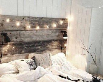 Barn Wood Bed Head Board Reclaimed Wood, Nightstand Option HUGE SALE Free  Ship 30 % Off Sale