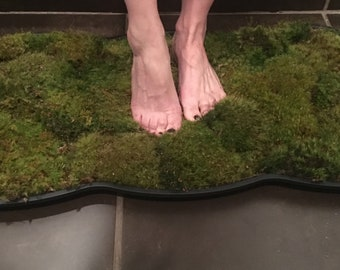 Moss bath mat unique gift or item for home 2 sizes FREE SHIP USA