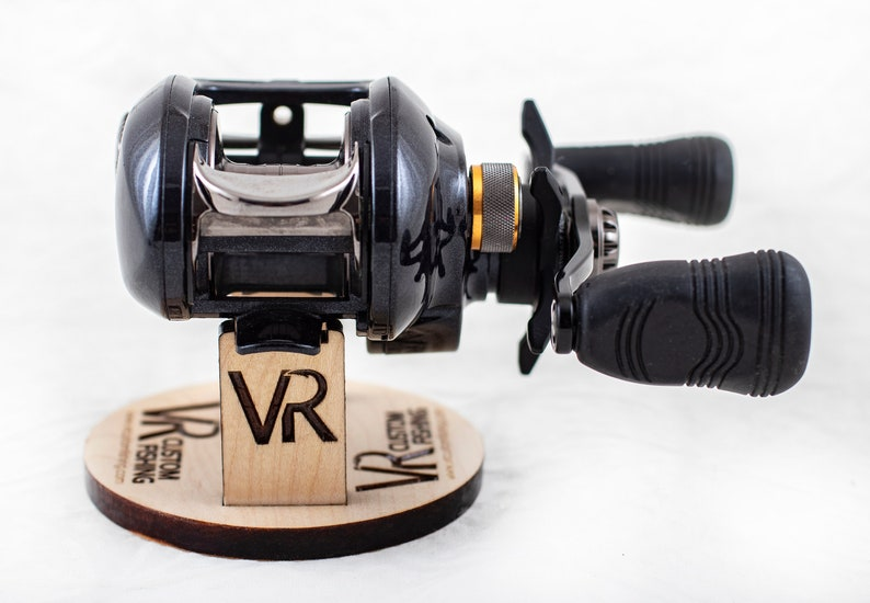 Maple Wood - Custom Fishing Reel Display Stand for Collectors or Retail -  Baitcaster/Spinning - Full Custom Design or Plain