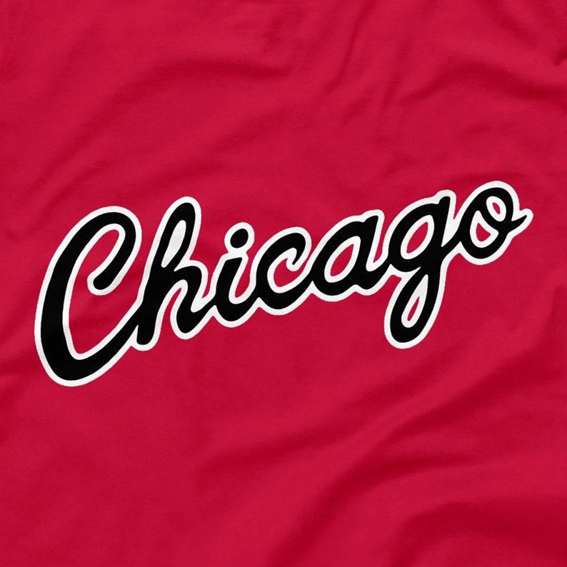 5324fa28b65 Chicago Bulls Shirt Script Logo Red Size S M L XL 2XL 3XL 4XL | Etsy