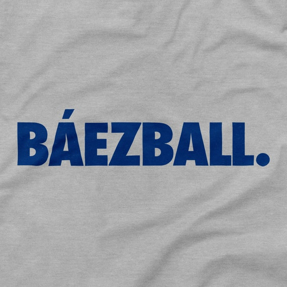 purchase cheap 938fe 23530 Chicago Cubs Shirt Báezball Logo Javier Javy Baez Baseball Emblem El Mago  Wrigley Field World Series Icon Gray Grey S M L XL 2XL 3XL 4XL 5XL