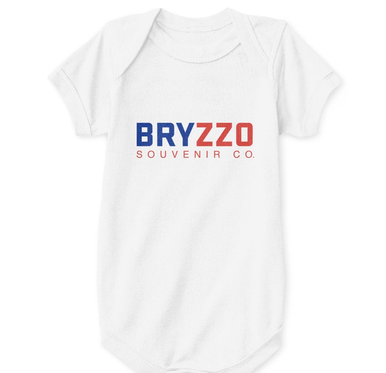 de1b04115 Chicago Cubs Baby Bodysuit BRYZZO Souvenir Company Co. White   Etsy