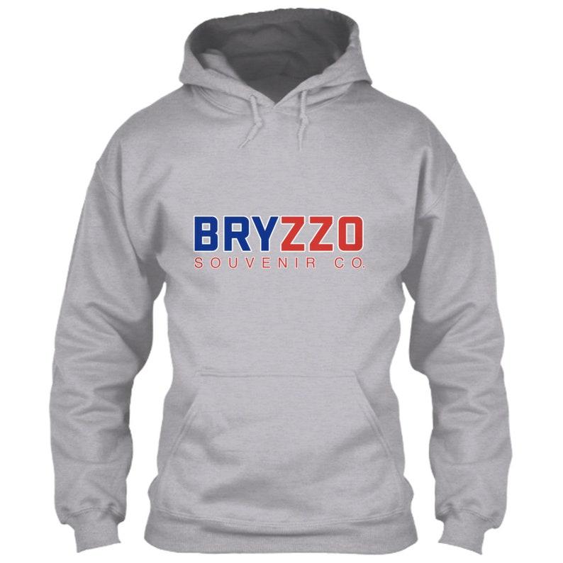 best loved a7fb6 92c66 Chicago Cubs Hoodie BRYZZO Souvenir Company Gray Grey Size S M L XL 2XL 3XL  4XL 5XL Kris Bryant Anthony Rizzo Wrigley Field Logo Icon Emblem