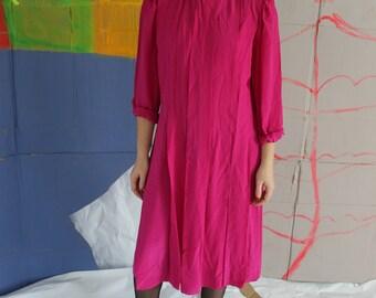 Vintage   Magenta Silk Maxi Dress 4d219d16c