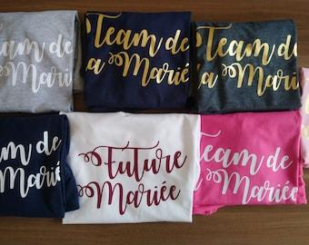 T Shirt EVJF Bride / Bridesmaid / Team Bride / Bride's Team custom / Bride to be shirt / t-shirt EVJF - Bachelorette shirts - EVJF -