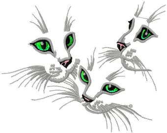 Cat Eyes Embroidery Etsy