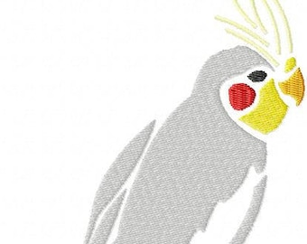 Cockatiel embroidery machine patterns