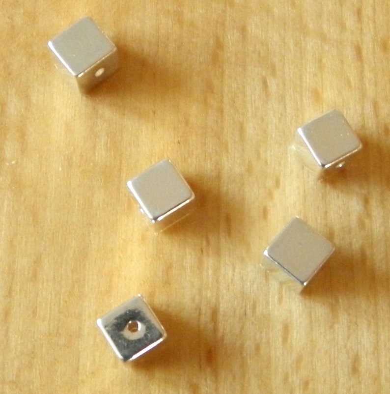 5 Perfect cubes 5 mm solid Sterling silver 925