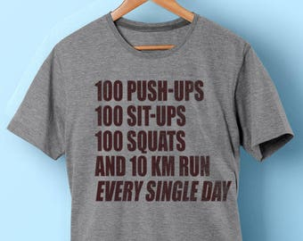 Saitama Training One Punch Man Parody Shirt - OPM - 100 Push ups