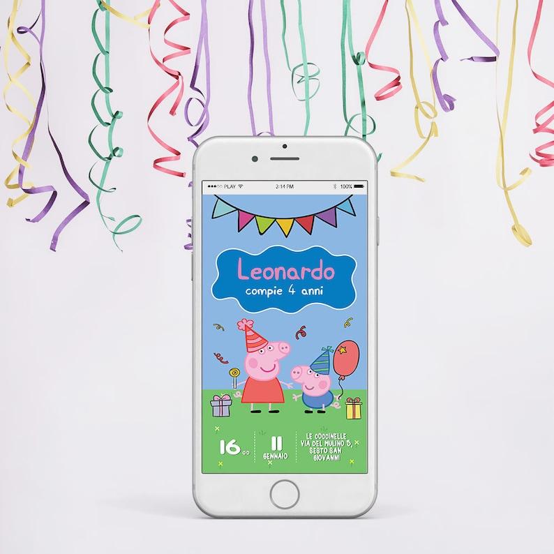 Invito Compleanno Peppa Pig Invito Compleanno Bambini Etsy