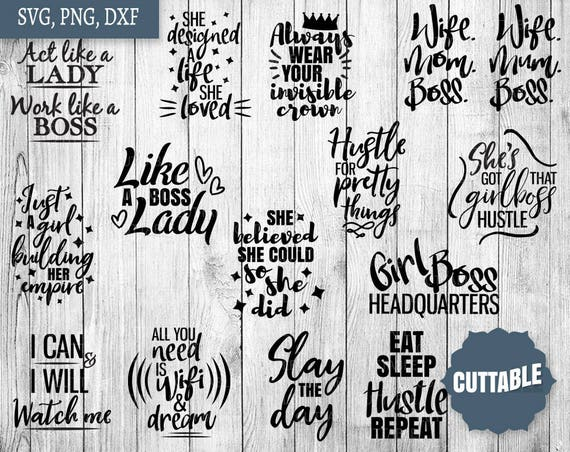 Girl Boss Svg Bundle Boss Lady Svg Pack Cut Files 15 Inspiration Girl Boss Cut Files For Cricut And Silhouette Commercial Use Boss Svg