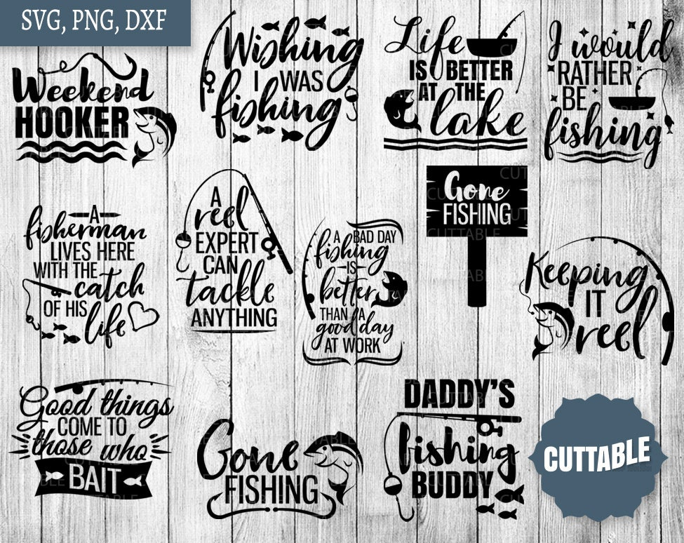 Fishing SVG Bundle | Etsy