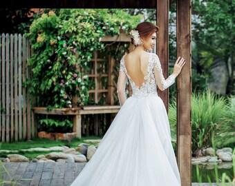1202696570 Custom Wedding Detachable Train for Brianna