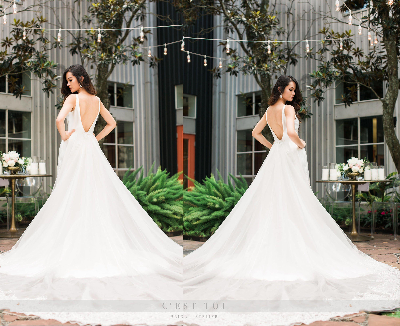 Detachable Train Wedding Dresses