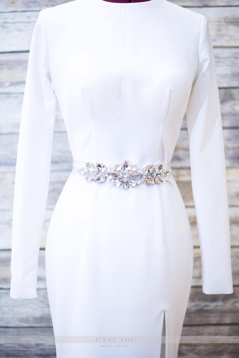 Rhinestone Bridal Belt Gems Bridal Sash Wedding Belts /& Sashes Rhinestone Sash Wedding Sash Crystal Sashes For Wedding Dress BT02
