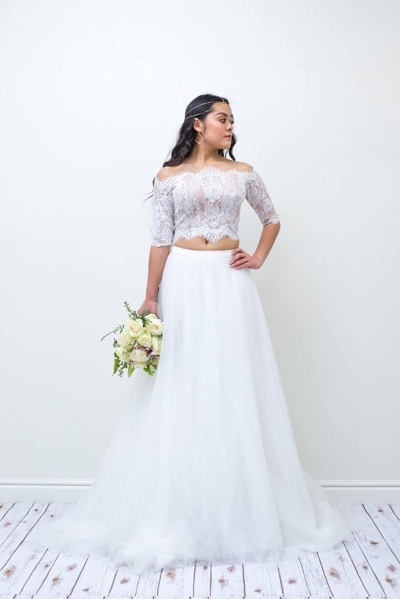 80c686892e0b DS1B10 Two-Piece Wedding Dresses Beach Wedding Dresses | Etsy