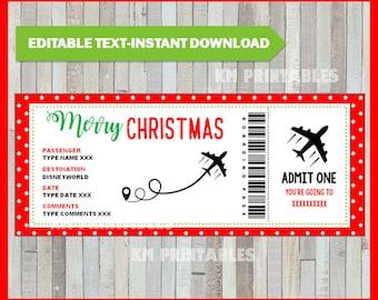 Boarding Pass Gift Etsy