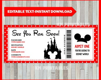 photo regarding Free Printable Disney Tickets named Ticket toward disney Etsy