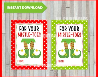 photo about For Your Mistletoes Printable referred to as Etiqueta de pedicura Etsy