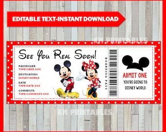graphic about Free Printable Pretend Disney Tickets referred to as Disney speculate Etsy