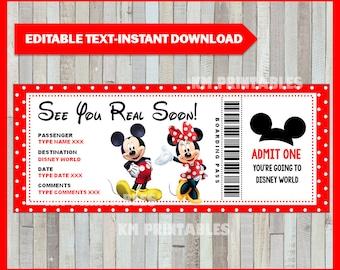 photo about Free Printable Pretend Disney Tickets called Disney ponder Etsy