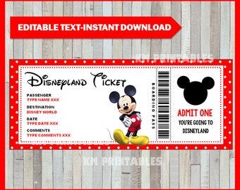 photo about Printable Disney Tickets referred to as Ticket toward disney Etsy