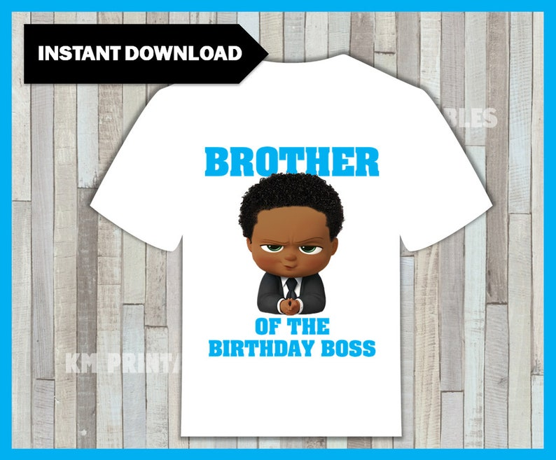2d0db61c2 African American Boss Baby Brother of the Birthday Boy Iron | Etsy