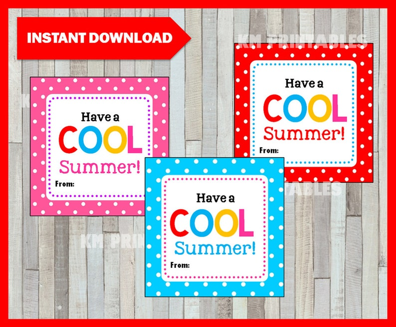 picture regarding Have a Cool Summer Printable known as Conclusion of the higher education 12 months Include a Great Summer time Card, Observe, Printable Immediate Down load