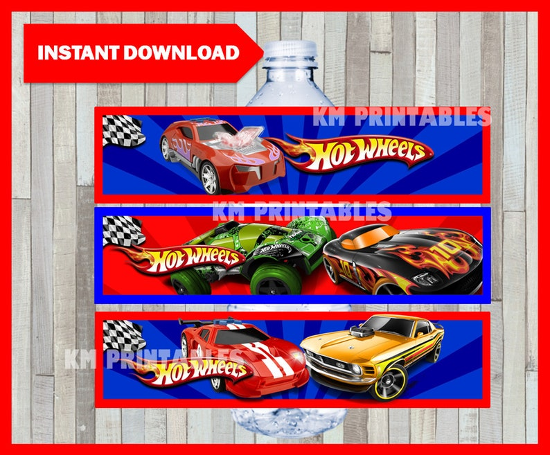 photo relating to Hot Wheels Printable titled Printable Sizzling Wheels H2o Bottle labels prompt obtain, Scorching Wheels get together bottle labels, Printable Very hot Wheels Bottle labels