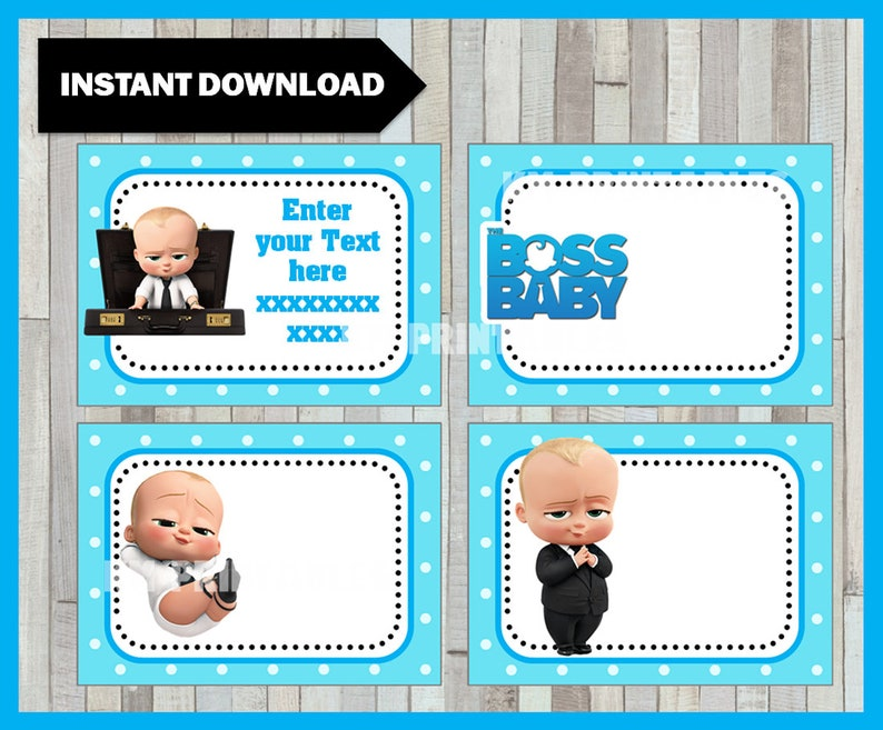 photograph about Boss Baby Printable named Manager Kid Printable Playing cards, tags, e book labels, stickers, little ones playing cards, present tags, labeling, sbooking EDITABLE Immediate Obtain