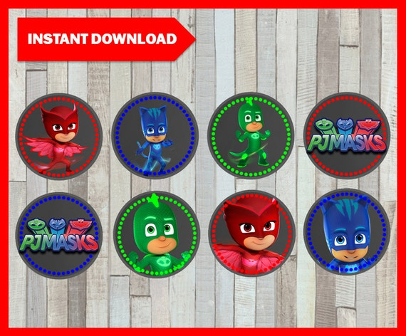 image about Printable Pj Masks identified as Printable Pj masks Chalkboard Cupcakes toppers instantaneous down load, Pj masks occasion Toppers, Printable Chalkboard Pj masks Toppers
