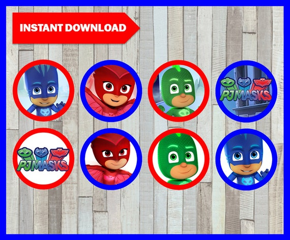 image regarding Printable Pj Masks called Printable Pj masks Cupcakes toppers immediate obtain, Pj masks bash Toppers, Printable Pj masks Toppers