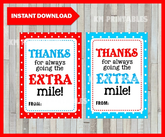 photograph regarding Thanks for Going the Extra Mile Printable named Owing for moving the Much more mile Tag, Trainer Appreciation Reward Tags, Gum Thank On your own Tag, Printable Prompt Obtain