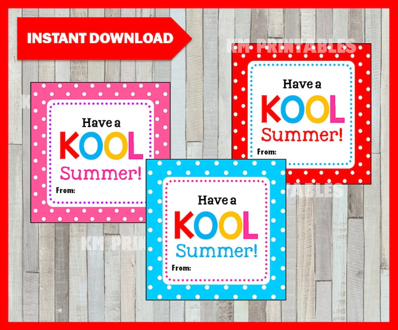 graphic about Have a Kool Summer Printable known as Stop of the yr Incorporate a KOOL Summer season Card, Notice, Printable Prompt Obtain