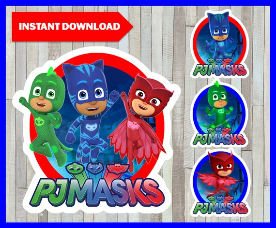 graphic regarding Pj Masks Printable Images referred to as PJ Masks centerpieces, PJ Masks Printable centerpieces, PJ Masks celebration centerpieces Instantaneous obtain