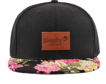Black   Floral Snapback Hat de6652146303