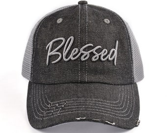 9abf5e8aaa9 Distressed Blessed Snapback Hat