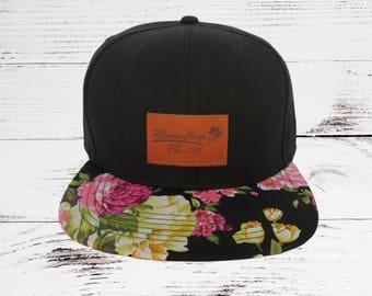 Bloomouflage Brand Floral Snapback Hat