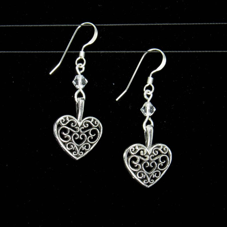 Moon Star Duo Tibetan Silver Dangle Charm Jewellery Making UK SELLER