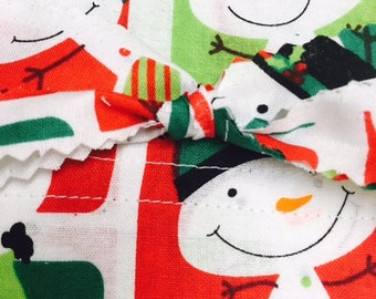 Jolly Snowman Pillowcase ... Standard Size ... Hand Made in USA