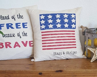 Farmhouse 4th of July PILLOW COVER