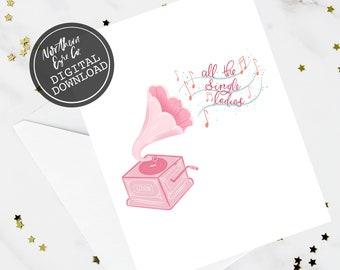 Beyonce Birthday Card Funny BFF Sister Best Friend Music Single Ladies