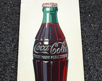 Original 1946 Coca Cola Masonite Sign, Coke Advertising