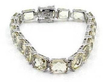 Sterling Silver Citrine Bracelet (695)