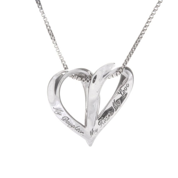 Sterling Silver My Daughter, My Heart, My Love Hea