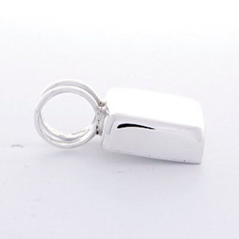 Engravable 925 Sterling Silver Small Square Pendant 1783