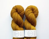 Vintage Gold - Fingering Sock Weight - Hand Dyed Yarn