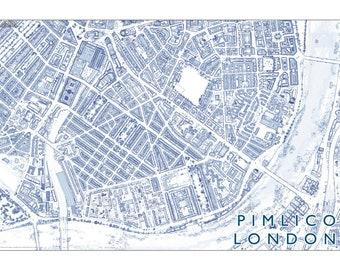 Pimlico London Map.Pimlico London Etsy