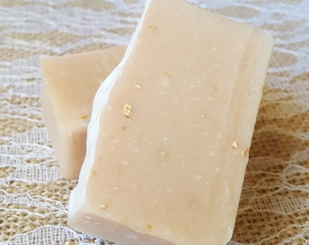 Lovespell Goat's Milk Soap with Oatmeal, Luxorious Goat's Milk Soap, Oatmeal Exfoliation, Skin Nourishing, Homemade Soap, Handcrafted Soap